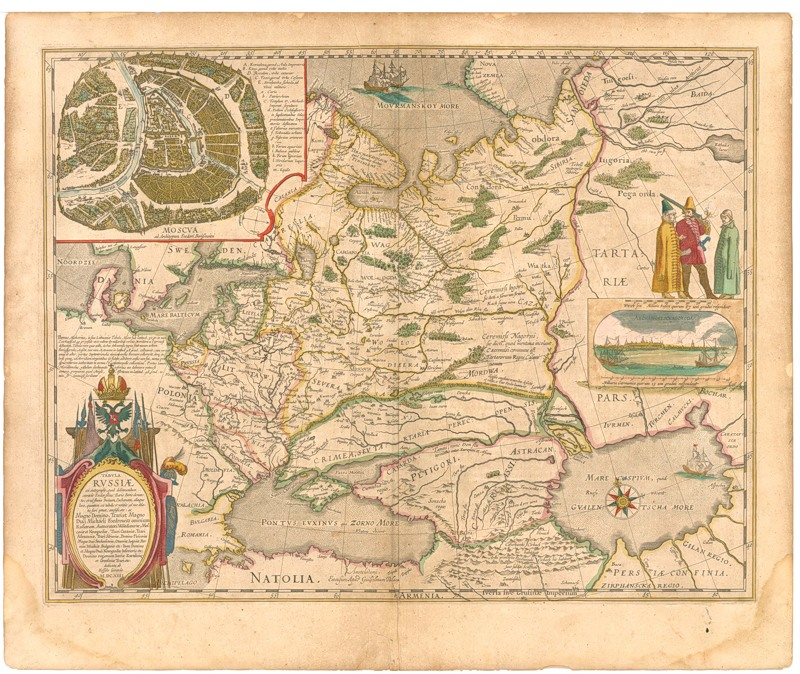 Одна из первых карт России